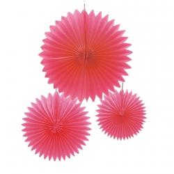 Crépon plat rose S/3